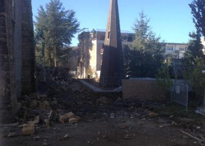 Differdange, Eglise-Toiture déposée - Destruction 12:2013