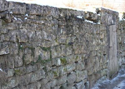 Larochette, Mur de jardin - 4